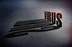 Concetto del pericolo del virus Fotografie Stock Libere da Diritti