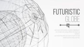 concetto del pianeta 3d Priorità bassa astratta di tecnologia Fondo poligonale astratto dello spazio Forma astratta della sfera G royalty illustrazione gratis