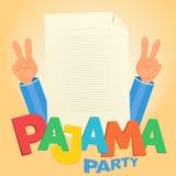 Concetto del pigiama party Immagine Stock Libera da Diritti