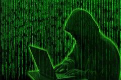 Concetto del pirata informatico Fotografie Stock