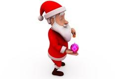 concetto del porcellino salvadanaio di 3d il Babbo Natale Fotografia Stock Libera da Diritti