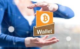Concetto del portafoglio del bitcoin royalty illustrazione gratis