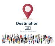 Concetto del posto di navigazione di festa di posizione della destinazione immagine stock libera da diritti