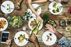 Concetto del pranzo di Foodie del partito del ristorante del pasto fotografie stock