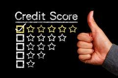 Concetto del punteggio di credito Immagini Stock Libere da Diritti
