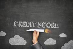 Concetto del punteggio di credito fotografie stock libere da diritti