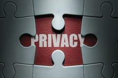 Concetto del puzzle di segretezza Fotografia Stock Libera da Diritti