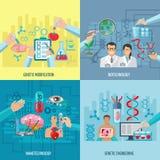 Concetto del quadrato della composizione nelle icone di biotecnologia royalty illustrazione gratis