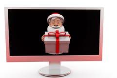 concetto del regalo di 3d il Babbo Natale Fotografie Stock Libere da Diritti