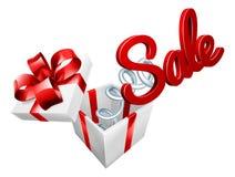 Concetto del regalo di Jack In The Box del segno di vendita royalty illustrazione gratis