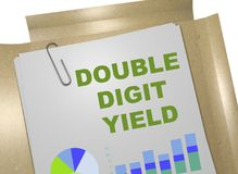 Concetto del rendimento del due cifre illustrazione di stock