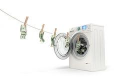Concetto del riciclaggio di denaro, Fotografia Stock Libera da Diritti