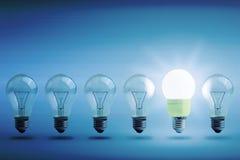 Concetto del risparmio energetico Immagine Stock