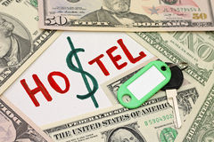 Concetto del risparmio - ostello più economico dell'hotel Fotografia Stock