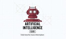 Concetto del robot della macchina di automazione di intelligenza artificiale Immagini Stock Libere da Diritti