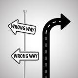 Concetto del segnale stradale di progettazione, della via e di modo, vettore editabile Immagini Stock