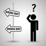 Concetto del segnale stradale di progettazione, della via e di modo, vettore editabile Immagini Stock Libere da Diritti