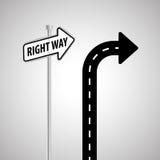 Concetto del segnale stradale di progettazione, della via e di modo, vettore editabile Fotografie Stock Libere da Diritti