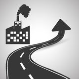 Concetto del segnale stradale di progettazione, della via e di modo, vettore editabile Fotografia Stock Libera da Diritti