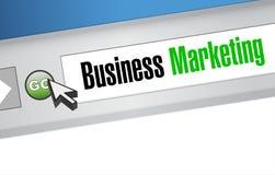 Concetto del segno del browser di vendita di affari Fotografia Stock