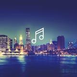 Concetto del segno dell'icona di Melody Music Sound Key Artistic Immagine Stock Libera da Diritti