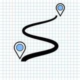 Concetto del segno dell'icona di navigazione di GPS, progettazione grafica di vettore del navigatore Symbol di direzione per la d immagine stock libera da diritti
