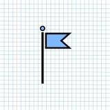 Concetto del segno dell'icona di navigazione di GPS, progettazione grafica di vettore del navigatore Symbol di direzione per la d fotografia stock