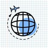 Concetto del segno dell'icona di navigazione di GPS, progettazione grafica di vettore del navigatore Symbol di direzione per la d fotografia stock libera da diritti