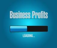 Concetto del segno della barra di caricamento di profitti di affari Immagine Stock Libera da Diritti