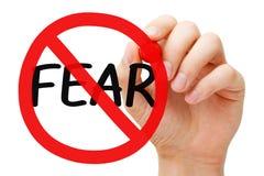 Concetto del segno di proibizione di timore Fotografia Stock