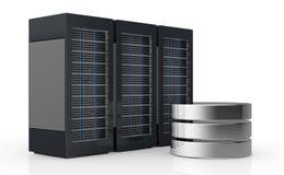 Concetto del server del calcolatore e della memoria di dati Fotografia Stock Libera da Diritti