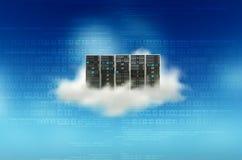 Concetto del server della nuvola Fotografia Stock Libera da Diritti