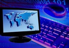 Concetto del sistema informatico Fotografie Stock