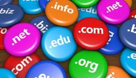 Concetto del sito Web di Internet di Domain Name Immagini Stock Libere da Diritti