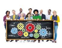 Concetto del sostegno alle imprese di Team Teamwork Goals Strategy Vision Immagine Stock