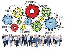 Concetto del sostegno alle imprese di Team Teamwork Goals Strategy Vision Fotografia Stock Libera da Diritti