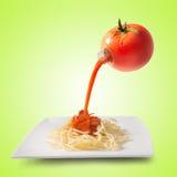 Concetto del succo di pomodoro Fotografie Stock