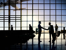 Concetto del terminale di aeroporto di viaggio d'affari dell'aeroporto internazionale Fotografia Stock