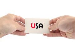 Concetto del testo degli S.U.A. Fotografia Stock Libera da Diritti