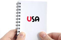 Concetto del testo degli S.U.A. Immagini Stock Libere da Diritti