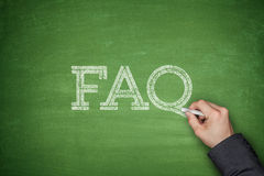 Concetto del testo del FAQ Fotografia Stock