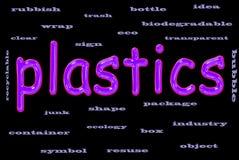 Concetto del testo della plastica Immagini Stock Libere da Diritti