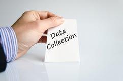 Concetto del testo della raccolta di dati Immagini Stock