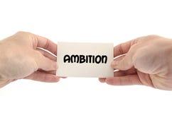 Concetto del testo di ambizione Fotografia Stock