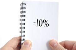 Concetto del testo di dieci per cento Immagine Stock