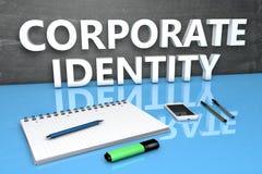 Concetto del testo di identità corporativa Fotografia Stock Libera da Diritti