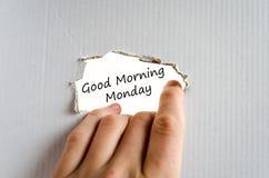 Concetto del testo di lunedì di buongiorno Fotografia Stock