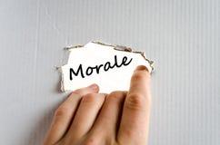 Concetto del testo di morale fotografie stock libere da diritti