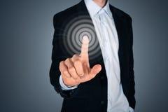 Concetto del touch screen Fotografie Stock Libere da Diritti