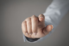Concetto del touch screen Fotografia Stock